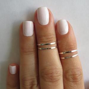Silver Knuckle Rings - Silver Stack..