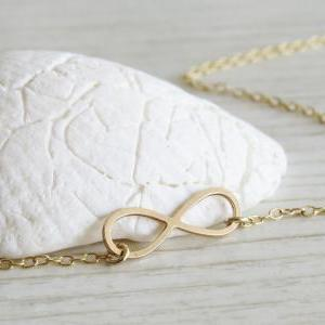 Gold Infinity necklace - Tiny infin..