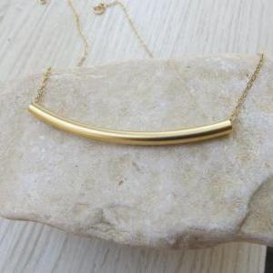 Gold necklace - Bar necklace, Gold ..