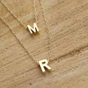 Goldfilled Initial Necklace - Gold ..