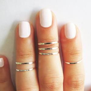 Silver Ring - Stacking rings, Knuck..