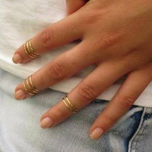 Stacking Rings, Gold ring, Thin mid..
