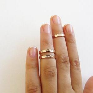Gold Rose knuckle Ring - Gold rose ..