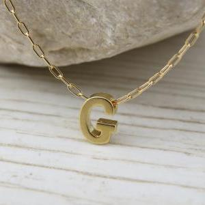 Bridesmaid jewelry, Initial necklac..
