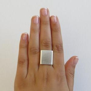 Adjustable ring, Set of 3 wide ring..