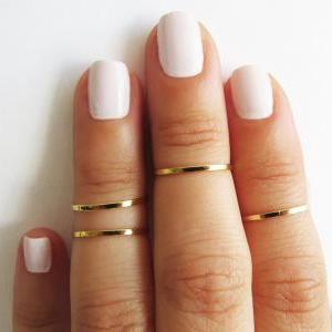 Gold Ring - Stacking rings, Knuckle..