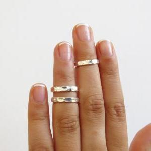 Silver knuckle Ring - Silver stacki..