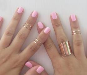 Set of 6 rose gold s..