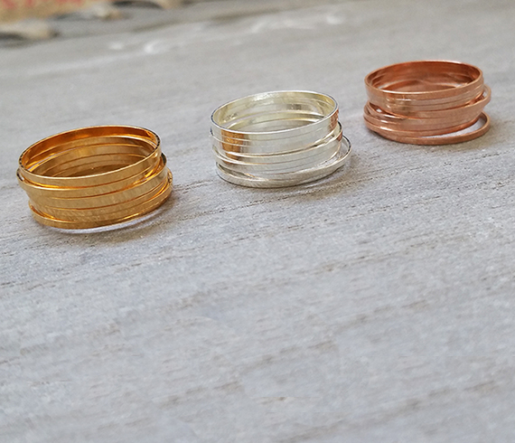 Stacking Rings Gold Ring Thin Midi Rings Set 24 Stack