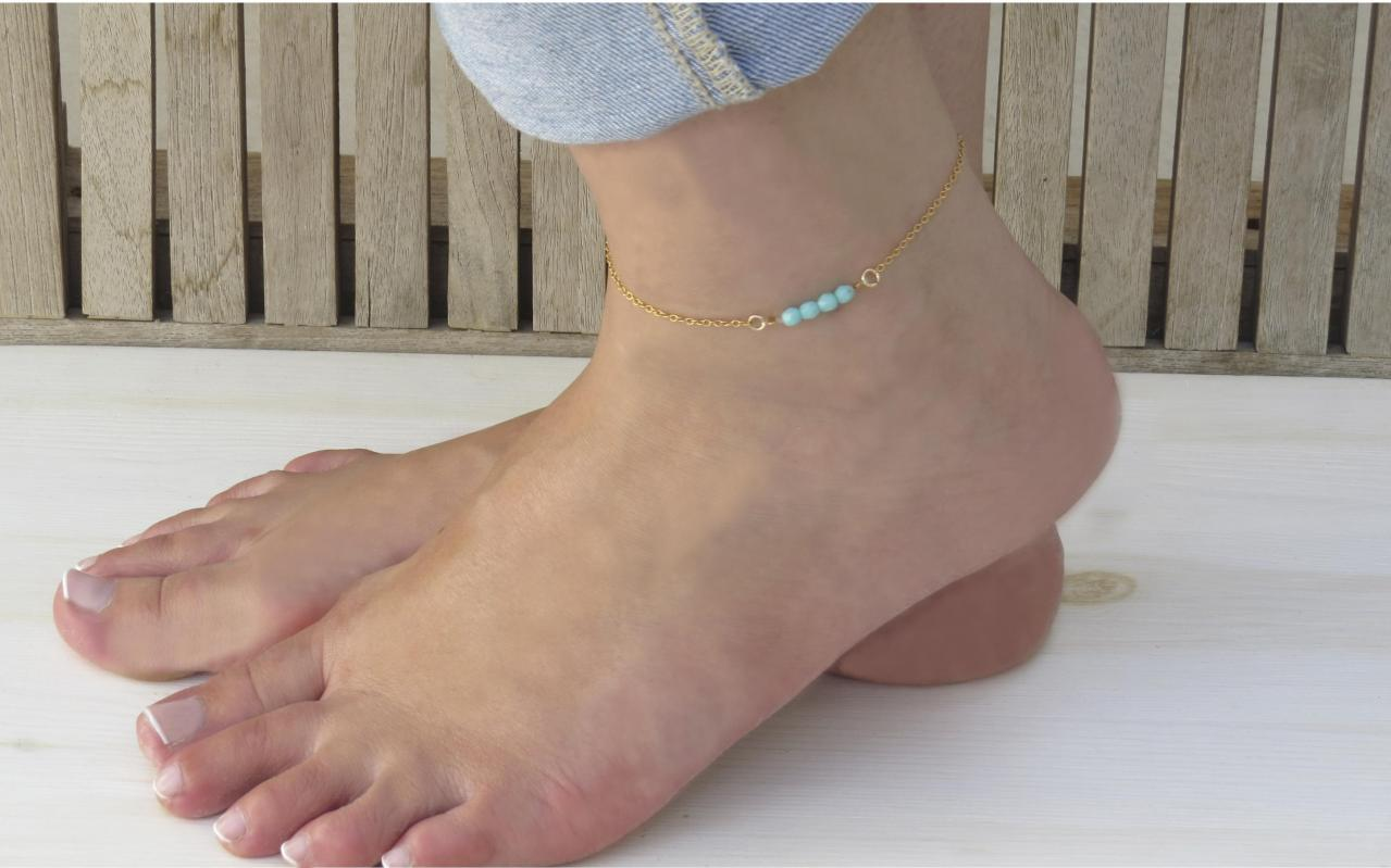 sterling silver or ankle bracelet pin gold turquoise bracelets dangle anklet fill