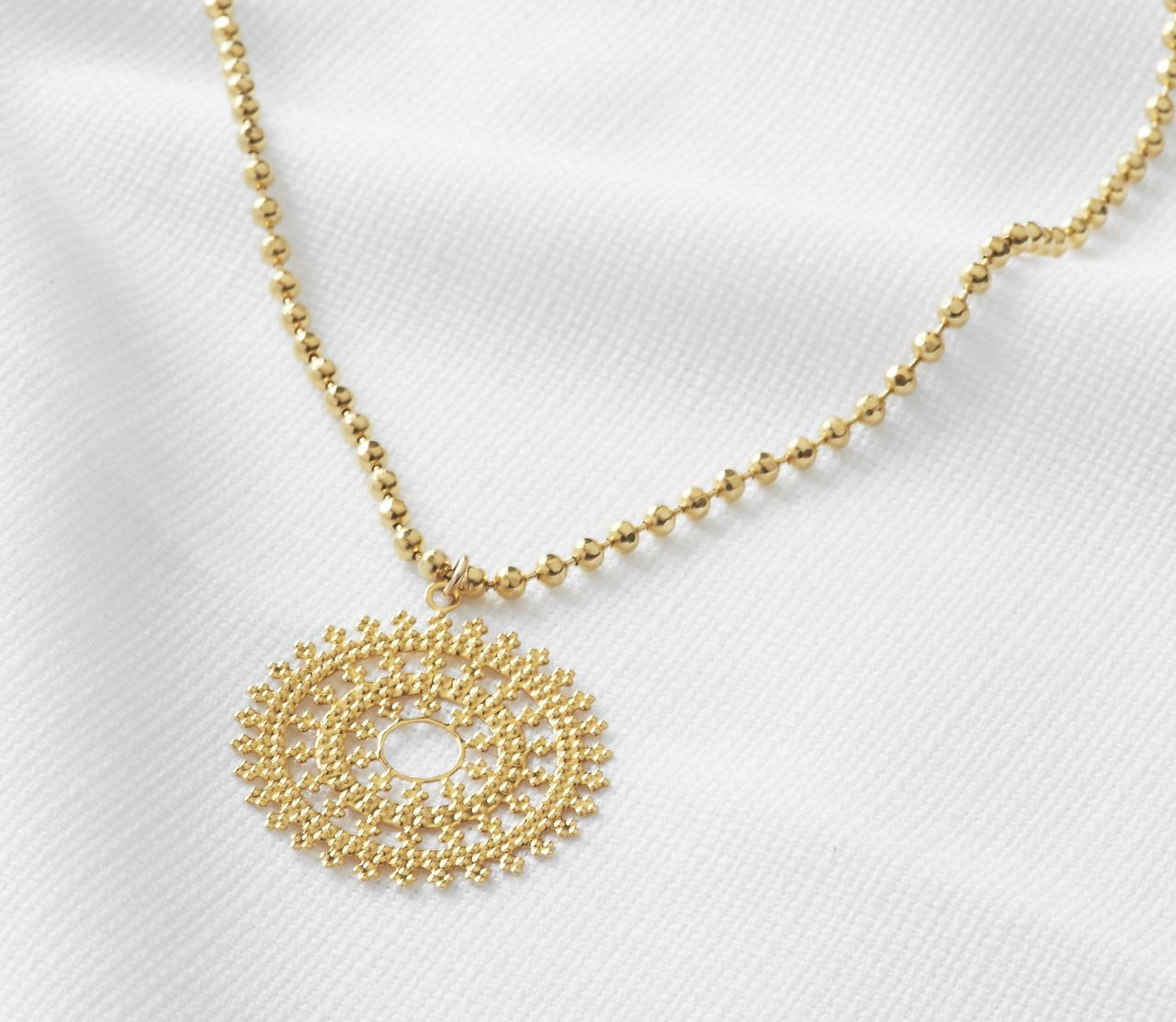 Gold pendant necklace long necklace round necklace gold disc gold pendant necklace long necklace round necklace gold disc necklace everyday necklace aloadofball Images