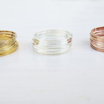 Stacking Rings - Thin midi rings - Set of 18 stack knuckle rings, 3 sets of 6 stacking ring, Gold ring, Silver ring, Rose gold ring